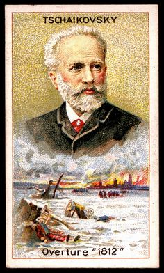 Cigarette Card - Peter Ilyich Tschaikovsky by cigcardpix, via Flickr