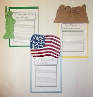 Social Studies- This website gives several writing social studies writing prompts that involve American symbols, such as 'The American Flag represents...' and 'Mt. Rushmore is an American symbol because...'