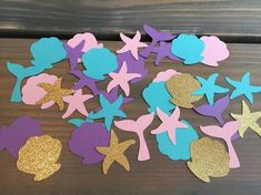 100 mermaid confetti under the sea party mermaid birthday party baby shower girls party little mermaid Mermaid Party Favors, Mermaid Theme Birthday, Little Mermaid Birthday, Little Mermaid Parties, 2nd Birthday, Birthday Ideas, Baby Shower Cupcakes For Girls, Baby Girl Shower Themes, Girl Cupcakes