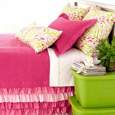 hot pink + lime = great colors for a teen room!  Interested in Adopting & Redecorating a Room in the Shelter?  Contact Gretchen Laffoon at glaffoon@nwacs.org