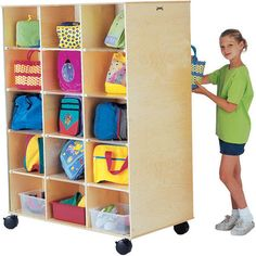 Twin Mobile Storage 30 Section Honor Roll Childcare Supply