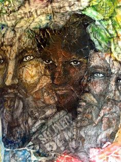 Angels Jeremiel, Raphael, Uriel, Raguel and friends.  By Patty Burgi Sneed