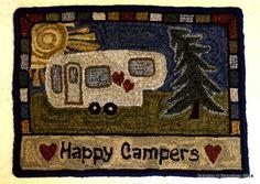Happy camper wool rug