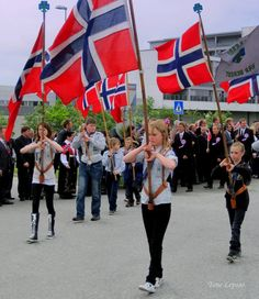 17 mai, Norways national day. Here in Nærbø, rogaland, Norway