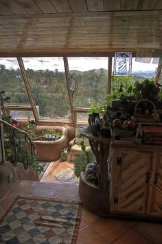 Santi & Laura's by theentiremikey, via Flickr Earthship Home Plans, Earthship Design, Cob House Kitchen, Eco Homes, Tiny Homes, Building A House, Green Building, Cob Houses, Indoor Greenhouse