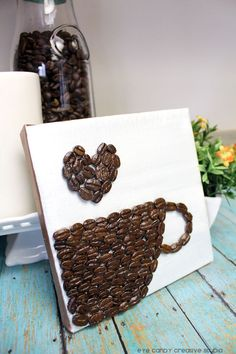craft - coffee bean art on eye candy creative studio