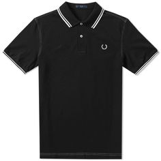 FRED PERRY LAUREL WREATH FRED PERRY LAUREL CONTRAST STITCH DOUBLE LOGO POLO. #fredperrylaurelwreath #cloth #