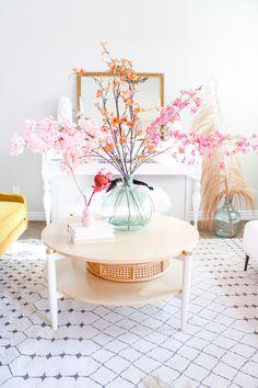Pastel Home Decor, Spring Home Decor, Cherry Blossom Decor, Cherry Blossoms, Fake Flowers, Artificial Flowers, Diy Spring Weddings, Fall Floral Arrangements, Pastel House