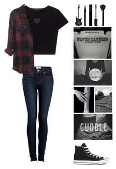 """""""Little life update and QOTD : what's going on in your life?"""" by michytherockerplatypus ❤ liked on Polyvore featuring Paige Denim, Converse, Gucci and NARS Cosmetics"""