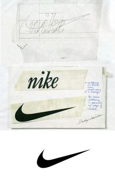 Even the most famous logos were created through the design process, one of the first steps being a rough process sketch. We've rounded up 11 process sketches and stories behind some of world's most famous logos. Adidas Cap, Creative Logo, Anuncio Nike, Carolyn Davidson, Nike Run, Famous Logos, Famous Brands, Logo Sketches, Logo Process