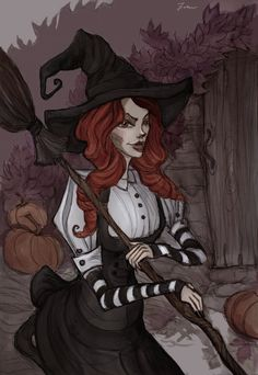 Red-haired witch by IrenHorrors.deviantart.com on @deviantART