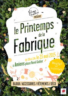 Affiche - Le Printemps de la Fabrique - conception : Chloé Bureau