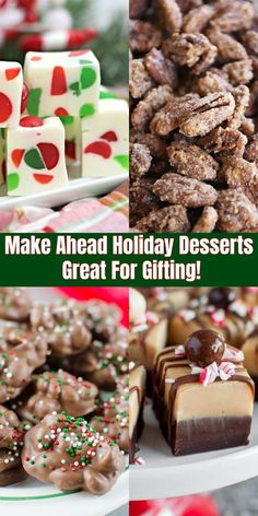 These 17 Make-Ahead Holiday Desserts Are the Gifts That Keep.-These 17 Make-Ahead Holiday Desserts Are the Gifts That Keep on Giving 17 Best Make-Ahead Holiday Desserts – Best Christmas Cookie Gifts - Christmas Cookies Gift, Christmas Snacks, Christmas Cooking, Holiday Treats, Holiday Recipes, Cool Christmas Ideas, Baked Gifts For Christmas, Easy To Make Christmas Treats, Christmas Deserts Easy