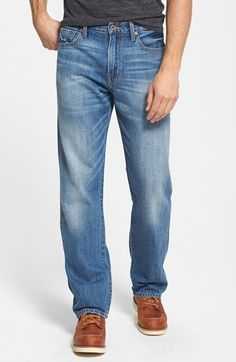 Free shipping and returns on Lucky Brand '329 Classic' Straight Leg Jeans (Slate) at Nordstrom.com. Classic straight-leg jeans cut from softly washed, light-blue denim are designed with a higher rise that sits at the natural waist and with legs that taper just slightly below the knee. The comfortable and versatile fit is perfect for athletic builds who generally need a looser fit in the thighs.