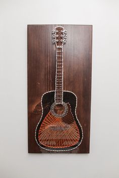 Guitar String Art MADE TO ORDER Sunburst by TruckSawCreations