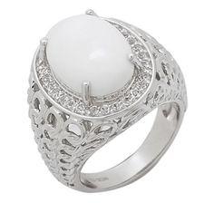 Hilary Joy White Agate & Topaz Sterling Silver Ring http://sparkleandshine.creativesolutionsmall.com For more like us on FB www.Facebook.com/shopping.sparkleandshine