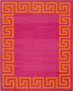"""Madeline Weinrib Pink & Orange Very Stoned Cotton Carpet  (Why does it say """"very stoned?""""  Is that a rug term?)"""