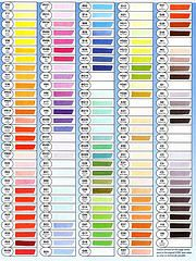 Copic Sketch colour chart