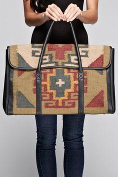 Kilim Weekend Bag - very Ralph Lauren & Free People Look