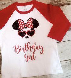 720a40e9 Minnie Mouse Inspired Shirt, Minnie Mouse Sunglasses Shirt, Minnie Mouse Birthday  Shirt, Glitter Option, Disney Family Shirts