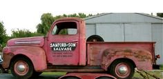 The original Sanford and Son truck. I love this show,me and my dad would watch it any time it came on! Vintage Pickup Trucks, Old Pickup, Old Ford Trucks, Vintage Cars, Classic Trucks, Classic Cars, Used Chevy, Sanford And Son, Cool Trucks