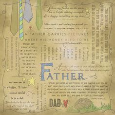 Scrapbook Customs - Religious Collection - 12 x 12 Paper - Quotes - Father at Scrapbook.com