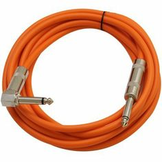 """Seismic Audio - SAGC10R - 10 Foot TS 1/4"""" to 1/4"""" Right Angle TS Guitar Cables Orange by Seismic Audio. $10.99. Right Angle to Straight Guitar CableModel # SAGC10ROne end has 1/4"""" Right Angle connector10 FeetOther end has 1/4"""" Straight connector1/4"""" TS Straight on one end1/4"""" TS Gold Tipped Right Angle on one endColor: Orange20 ga wiresBraided copper shieldingBrand NewOne Year WarrantyWhether you have a permanent installation or mobile, Seismic Audio's Right Angle Guitar C..."""