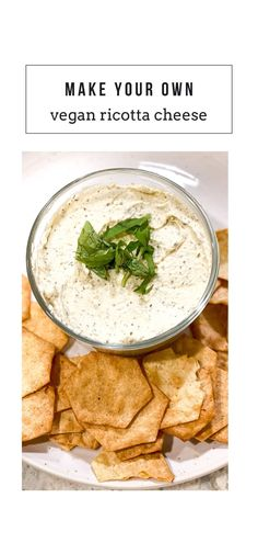 VEGAN TOFU RICOTTA! Great vegan appetizer, vegan snack, cheese replacement, dairy free cheese, plant based recipe. This is dairy free, nut free, oil free, gluten free, and so healthy. Be sure to add this to your vegan charcuterie board, vegan snack, vegan lunch, vegan dinner, or vegetarian dinner idea Vegan Cheese Recipes, Cheesy Recipes, Vegetarian Recipes Dinner, Vegan Dinners, Vegan Recipes Easy, Vegan Appetizers, Vegan Snacks, Vegan Stuffed Shells, Vegan Ricotta