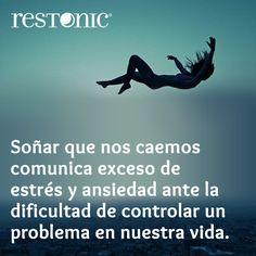 #Soñar que nos caemos comunica excese de #estrés y ansiedad ante la dificultad de controlar un #problema en nuestra #vida. #Tips #consejos #Restonic