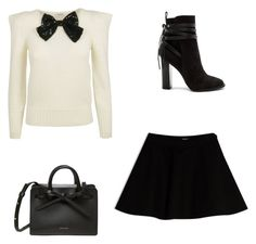 A fashion look from November 2016 featuring white shirts, skater skirts and black booties. Browse and shop related looks. Max Co, White Shirts, Black Booties, Steve Madden, Skater Skirt, Yves Saint Laurent, Fashion Looks, Booty, Skirts