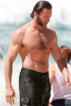Hugh Jackman...love the hairy chest <3