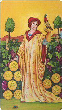 Nine of Pentacles Tarot Card Meanings tarot card meaning