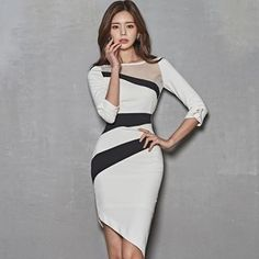 Buy Hasu Mesh Panel Elbow-Sleeve Dress at YesStyle.com! Quality products at remarkable prices. FREE Worldwide Shipping available!