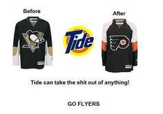 ahhhhh Tide works wonders to clean up that good ol' hockey game!