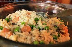 Jayati's Food Journey - Enjoy!!!: Burnt Garlic Rice with Soya Nuggets