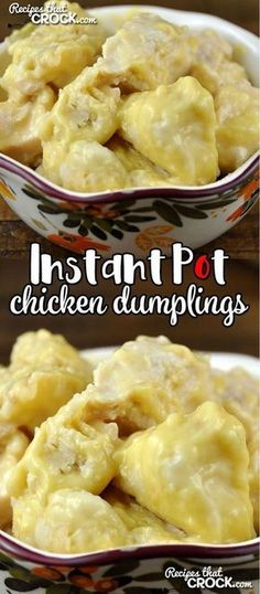 Instant Pot Chicken Dumplings - Recipes That Crock! My dear readers, I have an awesome treat for you today! With this Instant Pot Chicken Dumplings recipe, you can have delicious chicken dumplings in a half hour flat! Instant Pot Pressure Cooker, Pressure Cooker Recipes, Pressure Cooking, Instapot Chicken And Dumplings, Penne, Instant Pot Dinner Recipes, Instant Pot Chinese Recipes, Dumpling Recipe, Yum Yum Chicken