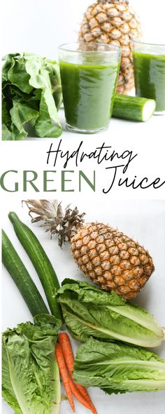An excellent recipe for a hydrating and delicious green juice recipe that will give you energy and keep you hydrated all year long!! Healthy green juice recipe!