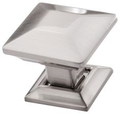 Square Satin Nickel Cabinet Knob by Southern Hills, Brushed Nickel ...