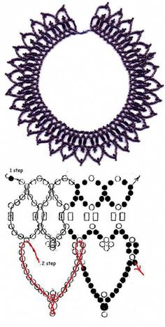 Free pattern for beautiful beaded necklace Eva Beaded jewelry Free pattern for necklace Eva Seed Bead Tutorials, Beading Tutorials, Beading Patterns, Beading Ideas, Beaded Necklace Patterns, Necklace Designs, Necklace Ideas, Beaded Necklaces, Beaded Bead