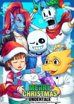 UT fanart - Merry Christmas from your friends in Undertale