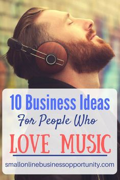 10 Business ideas For People Who Love Music If you are passionate about music there is nothing stopping you from pursuing a career in music, here are some business ideas for music lovers. Online Business Opportunities, Business Ideas, Business Help, Vocal Warmups, Spiritual Coach, Who People, Home Studio Music, Music Promotion, Social Entrepreneurship