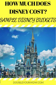 How much does Disney cost? How much will I spend on a Disney World vacation? Find out with sample Disney World budgets for your resort hotel, tickets, and more. Disney world planning tips and tricks to help you get the most out of your vacation Disney World Parks, Disney World Planning, Walt Disney World Vacations, Disney Cruise, Disney Trips, Disney Worlds, Disney Travel, Disney On A Budget, Disneyland Tips