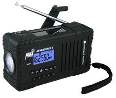 Ambient Weather WR-335 ADVENTURER2 Emergency Solar Hand Crank AM/FM/SW/WB Weather Alert Radio, Flashlight, Siren, Smart Phone Charger Ambient Weather http://smile.amazon.com/dp/B00HMREOLK/ref=cm_sw_r_pi_dp_MTsCub1PFDKEK