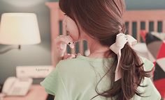 korean haitcut | ponytail and bangs