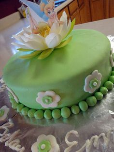 Tinkerbell Cake - possible birthday cake for Emme's 4th!