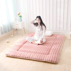 Decorate your bedroom with this elegant and light Japanese mattress. This futon mattress made in Japan has all the qualities--modern design pattern, lightweight, comfortable, and compact for any small space or room.