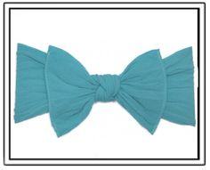 Baby Bling Turquoise Knot Headband-baby bling headband,baby toddler little girl headbands,pantyhose material headband,Scottsdale