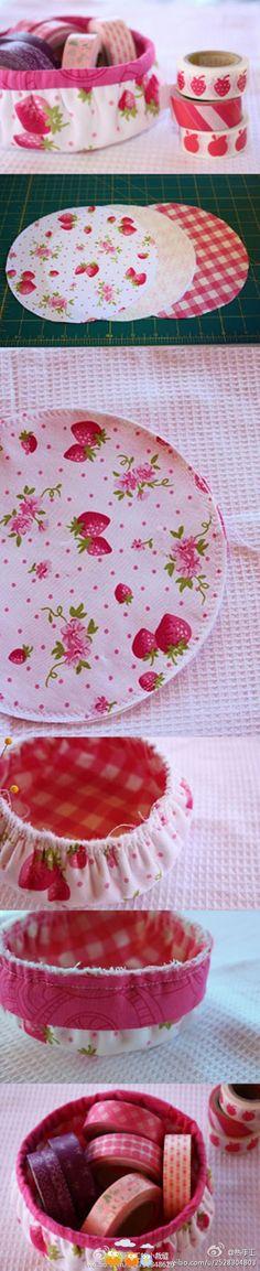 beautiful fabric basket