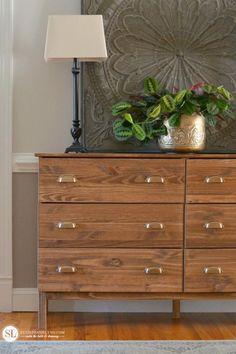 Ikea Tarva Dresser Makeover Michaels Makers Craft Storage Ideas #michaelsmakers
