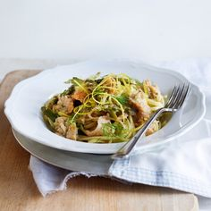 A perfect easy dinner, asparagus gives this salmon pasta recipe a delicious seasonal twist.. Find more speedy suppers over on prima.co.uk